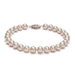 Crystal Faux Pearl Bracelet 8mm