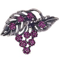 Edwardian Rhinestone Vintage Inspired Flower Brooch
