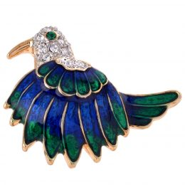 Hand Painted Enamel Turkey Lapel Pin