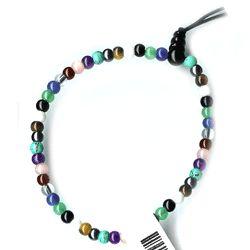 Simulated Gemstone Bead Stretch Bracelet