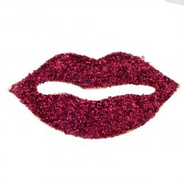 Textured Red Lips Brooch
