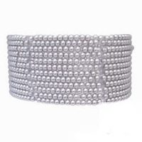 Faux Pearl Stretch Bracelet-B473-5