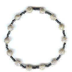 Stretch Hematite Beaded Bracelet