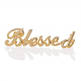 Gold-tone Touch of Blessing Pin