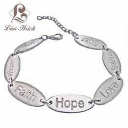 Faith,Hope,Love Awareness Bracelet