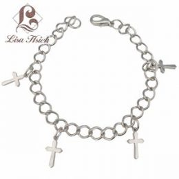 Dangling Cross Charm Bracelet