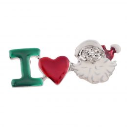 Enamel I Love Santa Claus Pin