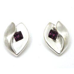 Retro Rhinestone Stud Earrings