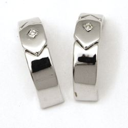 Retro Rhinestone Half Hoop Earrings