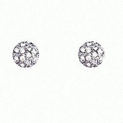 CZ Diamond Stud Ball Earrings