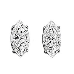 CZ Marquise Stud Earrings