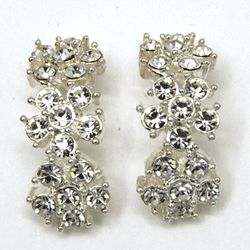 Bohemian Rhinestone Floral Earrings