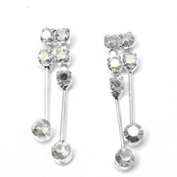Victorian Rhinestone Dangle Earrings