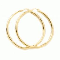 Gold Hoop Earrings-Large