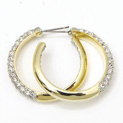 Inside Out CZ Diamond AJ Hoop Earrings