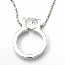 Urban-chic Cz Diamond Tension-set Ring Necklace