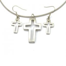 Cross Choker Necklace Set