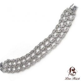 Couture Art Deco CZ Diamond Bracelet