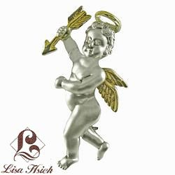 Angel Themed Two-tone Eros Themed Brooch