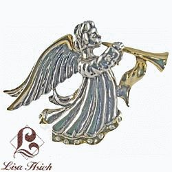 Angel Themed Two-tone Fairy Angel Themed Brooch