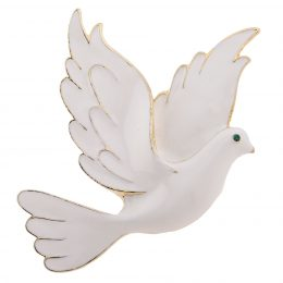 Holy Spirit Emblem of Purity White Dove Brooch