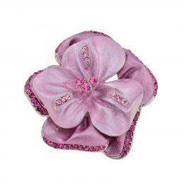 Art Nouveau Enamel Flower Brooch