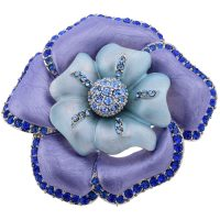 Art Nouveau Enamel Flower Brooch