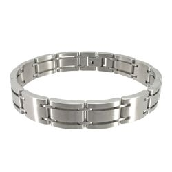 Stainless Steel Personalized Link Mens Bracelet-LH001