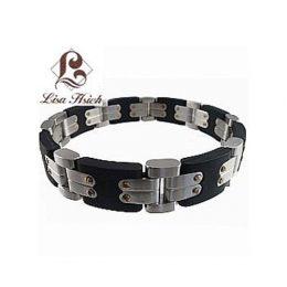 Stainless Steel Mens Rugged Link Bracelet-LH1025