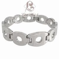 Stainless Steel Open Link Men's Bracelet-LH135