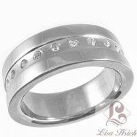 Stainless Steel CZ Diamond Eternity Ring