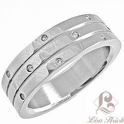 Fancy Stainless Steel Cubic Zirconia Ring