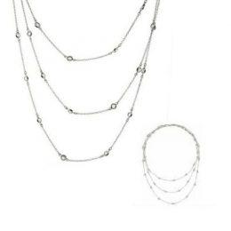 3 Tier Layered CZ Diamond Necklace