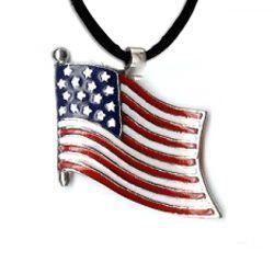 US Flag Pendant Necklace