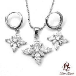 Starburst Cubic Zirconia Jewelry Set