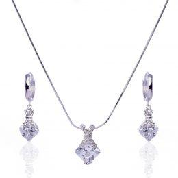 Couture Cubic Zirconia Necklace Set
