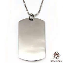 Stainless Steel Engravable Dogtag Pendant Large