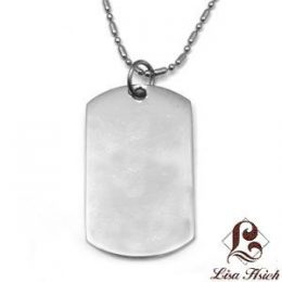 Stainless Steel Engravable Dogtag Pendant Small