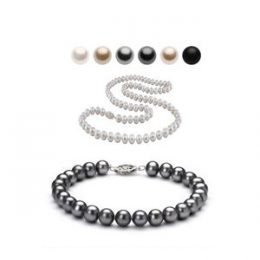 10mm Austrian Crystal Simulated Pearl Necklace