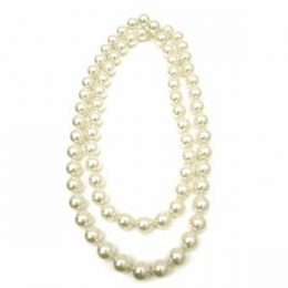 48″ Rope 16mm Faux Pearl Strand Necklace