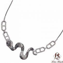 Noah's Ark CZ Diamond Accented Snake Necklace