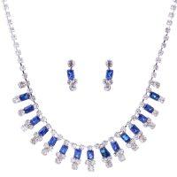 Art Deco Multi-color Swarovski Crystal Necklace Set