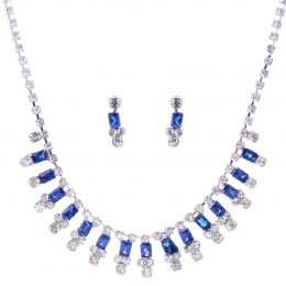 Art Deco Multi-color Swarovski Crystal Necklace Set