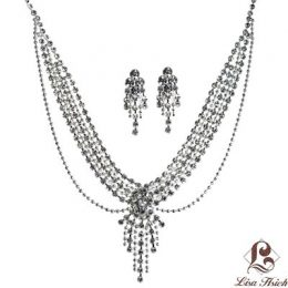 Art Nouveau Rhinestone Necklace Set