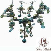 Victorian Enamel Rhinestone Crystal Necklace Set-NEC002