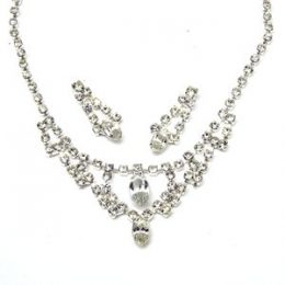 Retro Rhinestone Necklace Set
