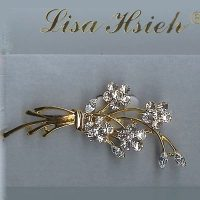 Georgian Rhinestone Crystal Brooch