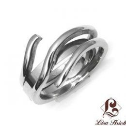 Stainless Steel Abstract Art Ring