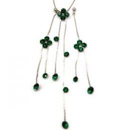 Art Nouveau Rhinestone Swarovski Necklace Earring Set