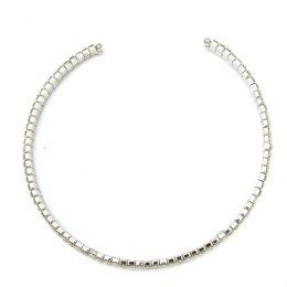Victorian Bridal Rhinestone 2 Row Collar